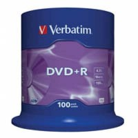 DVD+R Verbatim (43551) 4.7GB, 16x, Cake Box, 100шт