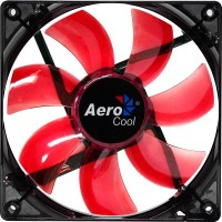Вентилятор Aerocool Lightning Red LED Black 120мм