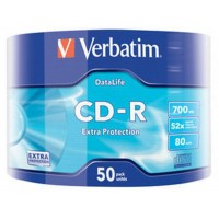 CD-R Verbatim (43787) 700Mb 52x Wrap-box 50 шт Extra
