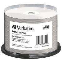 CD-R Verbatim (43745) 700MB 52x Wide Printable, 50 шт Spindle