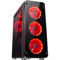 Корпус 1stPlayer Firebase-X6 Red LED Black без БП 6931630211051
